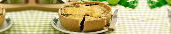 klassieke quiche met kaas en spinazie