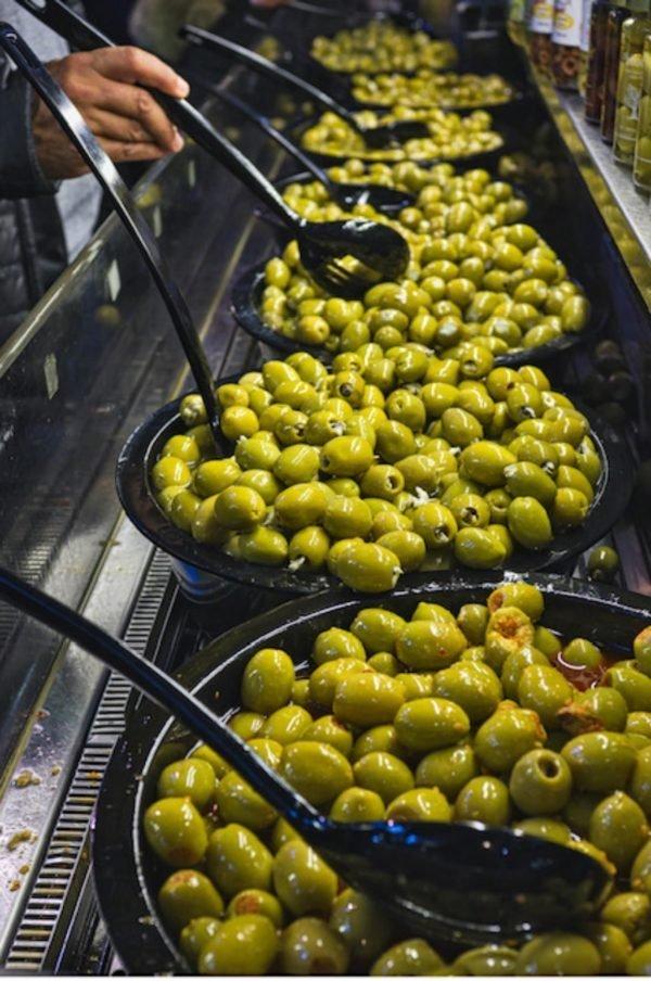 olijven in bakken